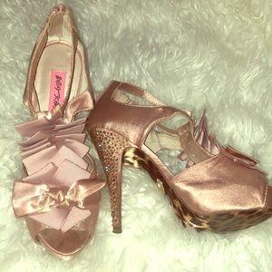 Betsey Johnson shoes w/ rhinestone heels